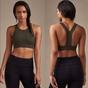 Lululemon Fast and Free Bra Olive Green Size 6